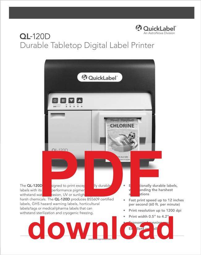 QL-120D digital etikettskrivare